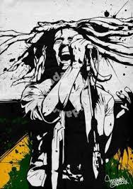 Bob Marley Rasta Poster