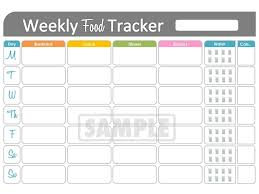 Weekly Food Tracker Printable For Health And Fitness