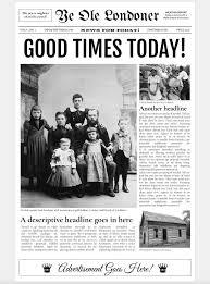 Old Fashion Newspaper Template Newspaper Articlemplate Google Docs Editable Free School