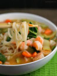 Asian rice noodle soup recipe
