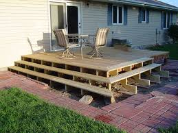 amazing build a free standing deck plan lovelybuilding com