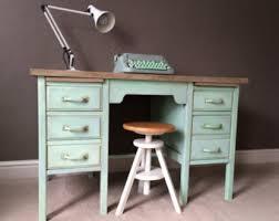 painted office furniture. SOLD Desk Industrial Wooden Vintage Office Desks, Hand Painted Chalk Paint Furniture L