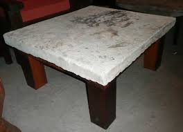 ... Coffee Table, Antique Stone And Teak Table Stone Coffee Table Tops:  Natural Stone Coffee