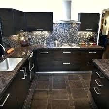 kitchen floor tile design ideas blue pearl counter glass mosaic