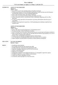 housekeeping resume templates assistant housekeeper resume samples velvet jobs