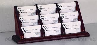 Business Card Display Stands Simple 322 Pocket Wooden Business Card Holder 32 Tiered Display