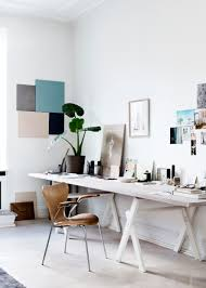 white airy home office. apartment largesize contemporary home office desk set with diy wall art decoration for airy white
