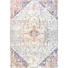 vintage tribal rosette joie blush 8 ft x 10 ft area rug