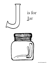 Small Picture J For Jar Alphabet 1091 Coloring Pages Printable