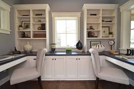 Wall Units, Custom Built Office Cabinets Custom Home Office Cabinetry White  U Shaped Work Desk ...