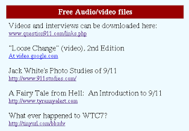 scholarsfortruth org muddling the evidence the audio video files panel of the home page contains the site s only link to 9 11 research instead of using a direct link to