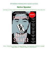 Speaker Design Book Pdf Read Pdf Native Speaker Ebook Read Online Get Ebook Epub Mobi
