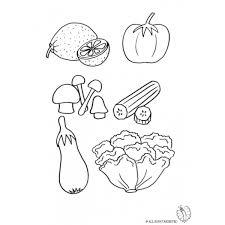 Disegno Di Vegetali Da Colorare Per Bambini