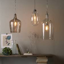 contemporary clear glass bottle pendant lamps feature iron chain in chrome also clear glass bulb pendant