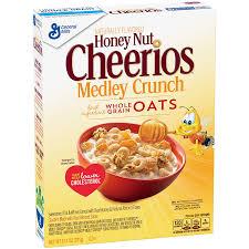 amazon cheerios breakfast cereal honey nut cheerios medley crunch cereal 13 1 oz box