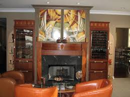 modern home art deco kitchen design ideas with brown leather sofa in living room also with art deco kitchen lighting