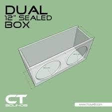 CT Sounds Dual 12 Inch Car Audio Sealed Subwoofer Box Design