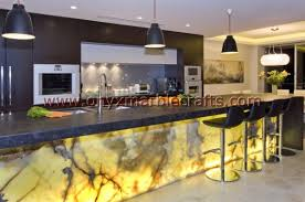 backlit onyx countertops ideas kitchen design white onyx