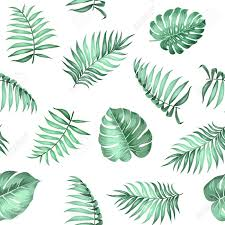 Topical Pattern Awesome Topical Palm Leaves On Seamless Pattern For Fabric Texture Vector