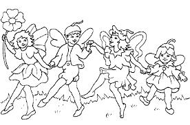 Kleurplaat Elfjes Animaatjesnl