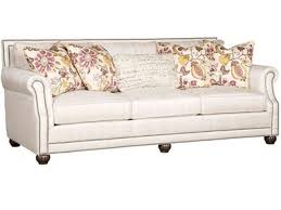 King Hickory Grey Julianna Sofa with Black Nickel Nailhead Trim