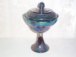 vintage blue glass candy dish designs