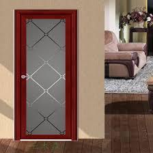 aluminum seal interior frosted glass bathroom door design