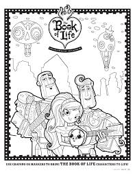 Coloring Sheet 2 Coloring Book Pages Book Of Life Movie Book Of
