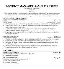 Gallery Of Regional Manager Resume Examples