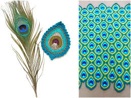 Peacock Pattern Delectable Java Peacock Feather Motif Blanket Free JAYG Instructions