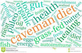 Caveman Diet Word Cloud Stock Vector Illustration Of