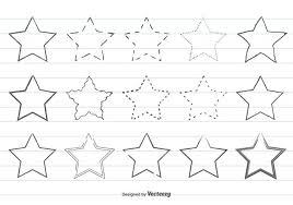 かわいい手描きの星形free イラストfree Downloadフラットデザイン