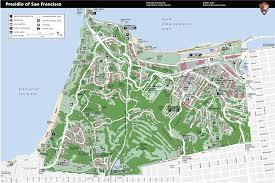 presidio of san francisco detail map  presidio san francisco ca