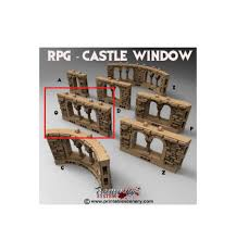 Rampage Castle Windows - Q Brick Wall Windows Scale 28mm - Unpainted