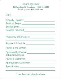 Maintenance Work Order Form Beauteous Free Lawn Care Contract Forms Lawn Maintenance Contract Agreement