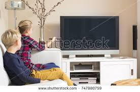 black kids watching tv. two kids watching tv. large screen design template black tv e