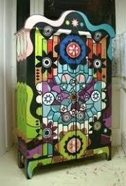 funky furniture. funky hand painted furniture cabinet o