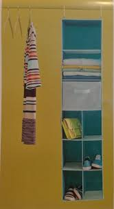 details about multi purpose closet rod hanging storage protector organizer space saver