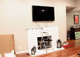 Hide Cable Wires Tv Above Fireplace Hiding Wires Facbooikcom