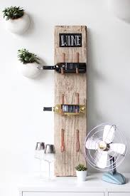barn wood wine rack easy diy wood projects for small spaces diy projects