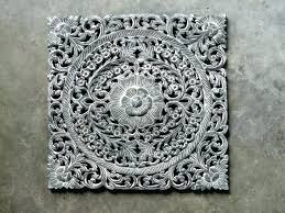 wood carved wall decor india uk wooden signs traditional x inch round tan ornate decorating marvelous