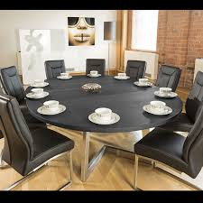massive 180 230cm extending luxury round oval dining table oak black