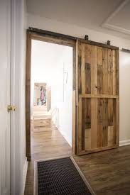 Barn door in the house! Required materials and instructions included. Could  use this to