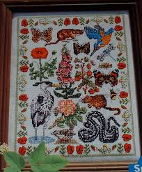 Summer Animal Birds Plants Insects Sampler Cross Sttich Chart