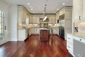 Good Flooring For Kitchens Good Wood Floor Kitchen Cabinet Combination Designs About Wood