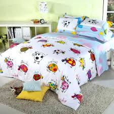 farm bedding sets light blue and white colorful cow cattle print farm animal themed full queen