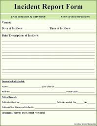 5 Accident Incident Report Template Form Example Royaleducation Info