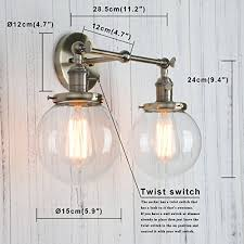 Double Sconce Bathroom Lighting Extraordinary Permo Double Sconce Vintage Industrial Antique 48lights Wall Sconces
