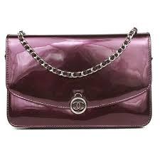 chanel wallet on a chain cross bag purple