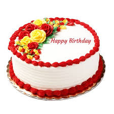 Happy Birthday Beautiful Flower Cake Chandigarh Cakes Delivery